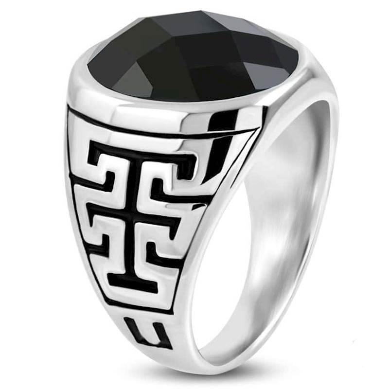 Men\'s ring in steel.