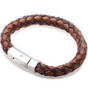 Bracelet leather Dark / Light