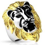mens ring lion head