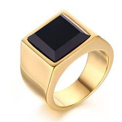 Golden simple ring.