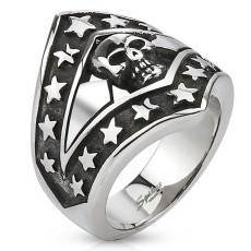 mens ring stars steel