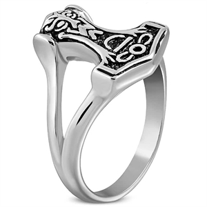 thors hammer mens ring