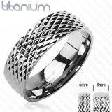 """Titanium"" Ring as engagement or separately."