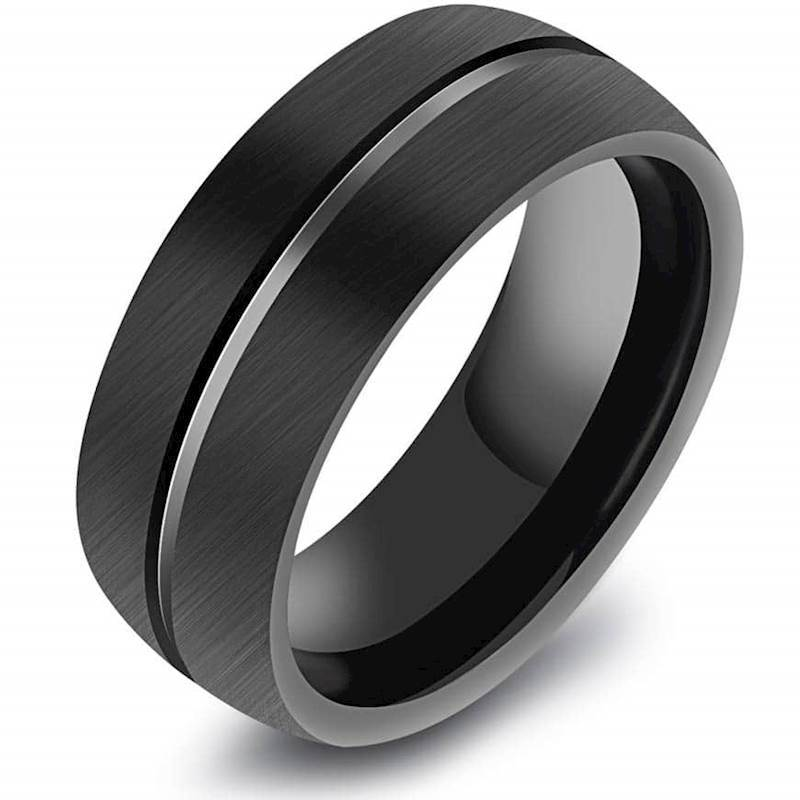 Tungsten ring black