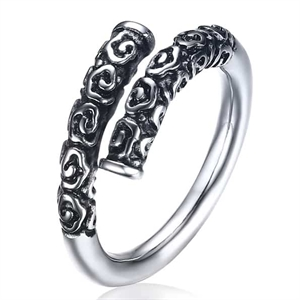 Vikinge ring in steel.